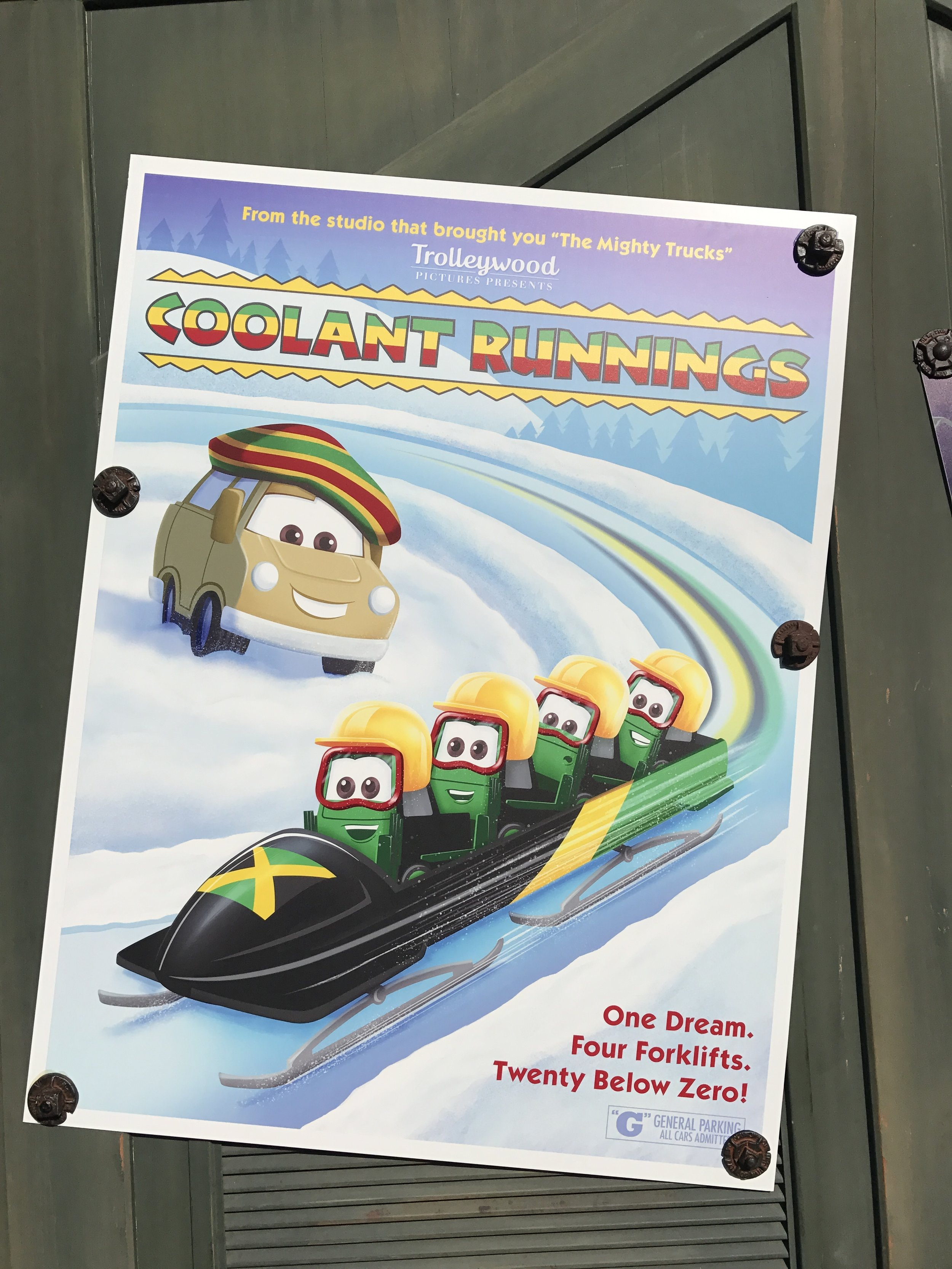 My favorite seasonal poster in DCA's Cars Land.So clever!