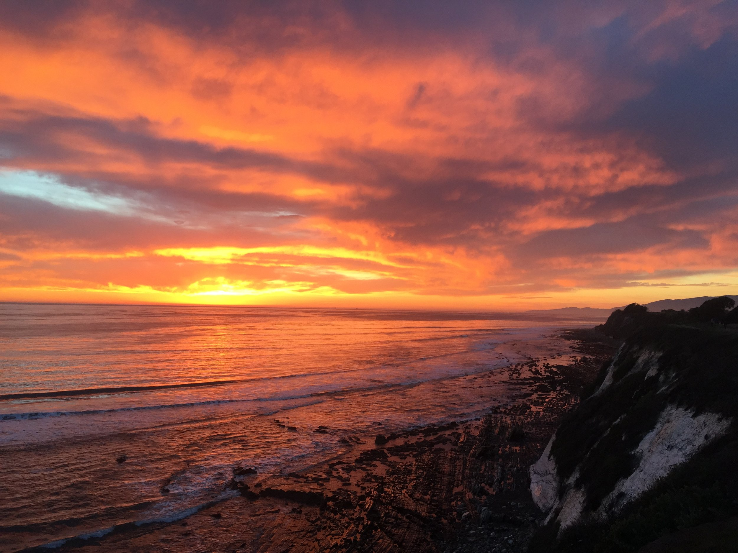 Sunset from the Ellwood cliffs in Goleta (no filter)