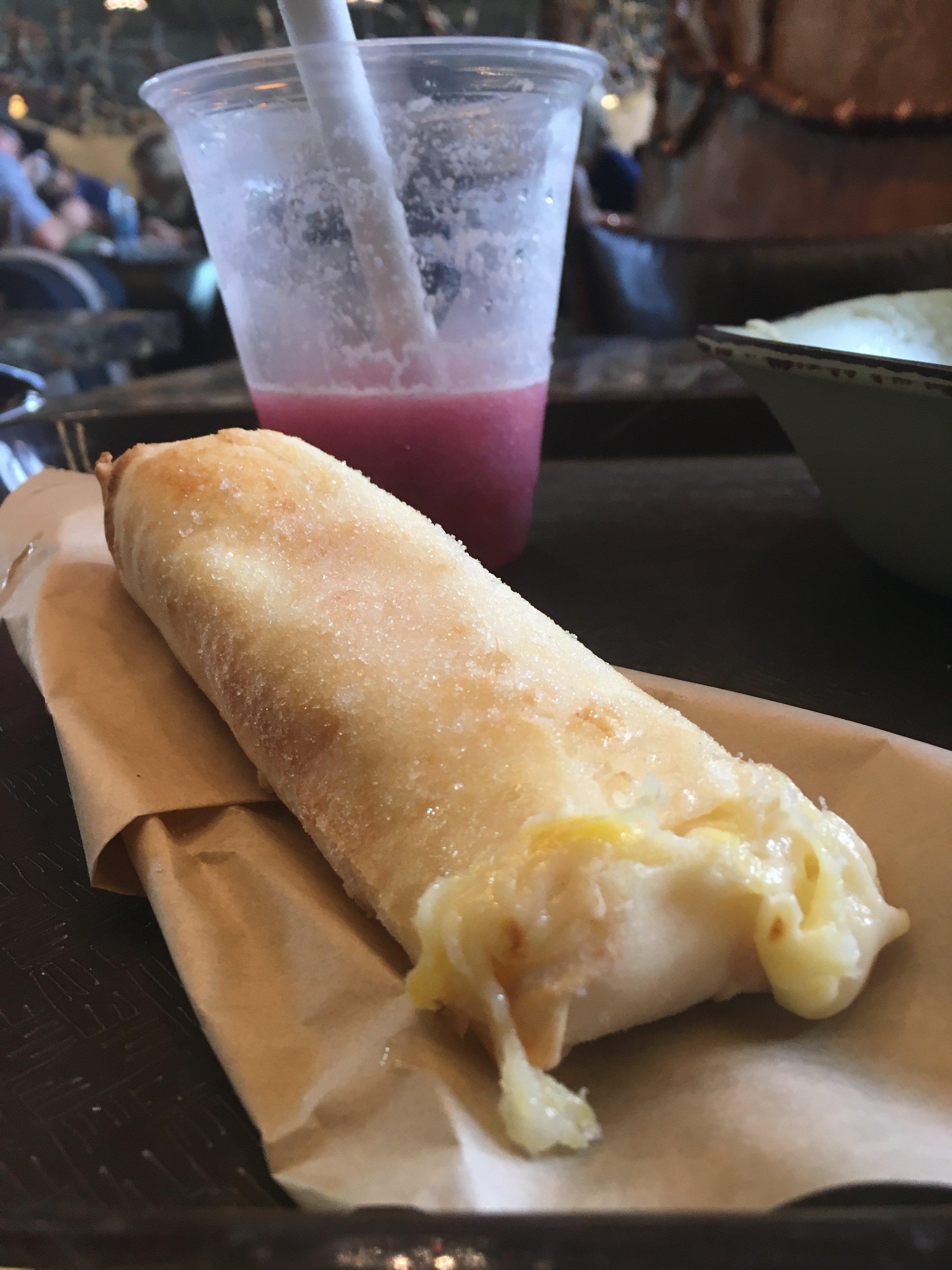 Pineapple cream-cheese lumpia