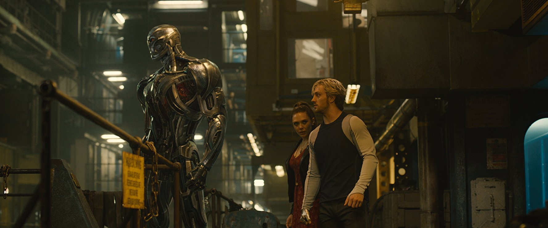 Ultron, Scarlet Witch, and Quicksilver.  Image  via