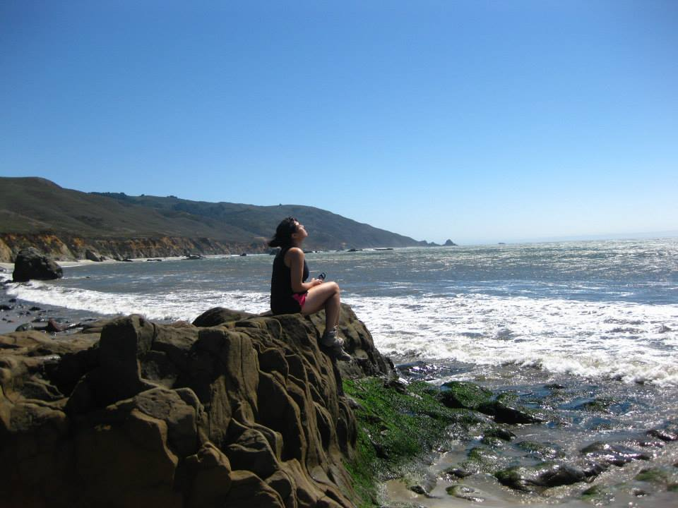 Me at a beach in Big Sur after a long hike