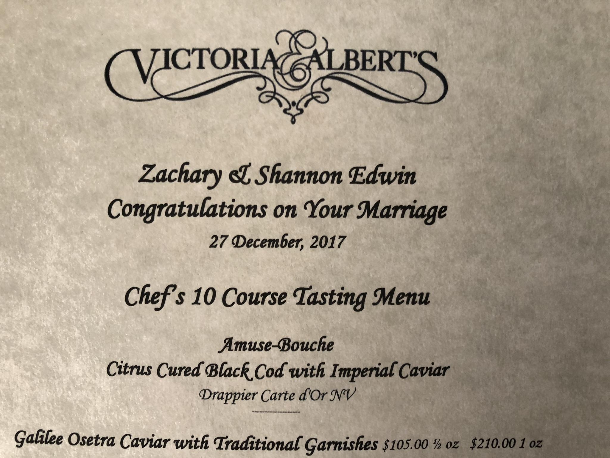 Personalized menu