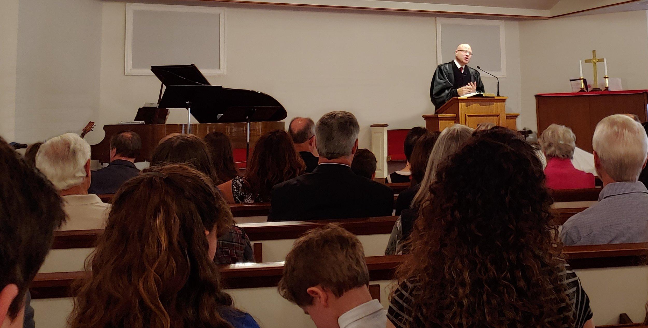 2018-11-04, Dedication Service, Preaching 2, Scott Shaw.jpg