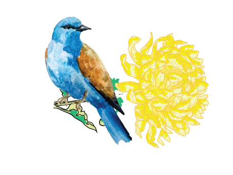 Bird with Yellow Flower.png