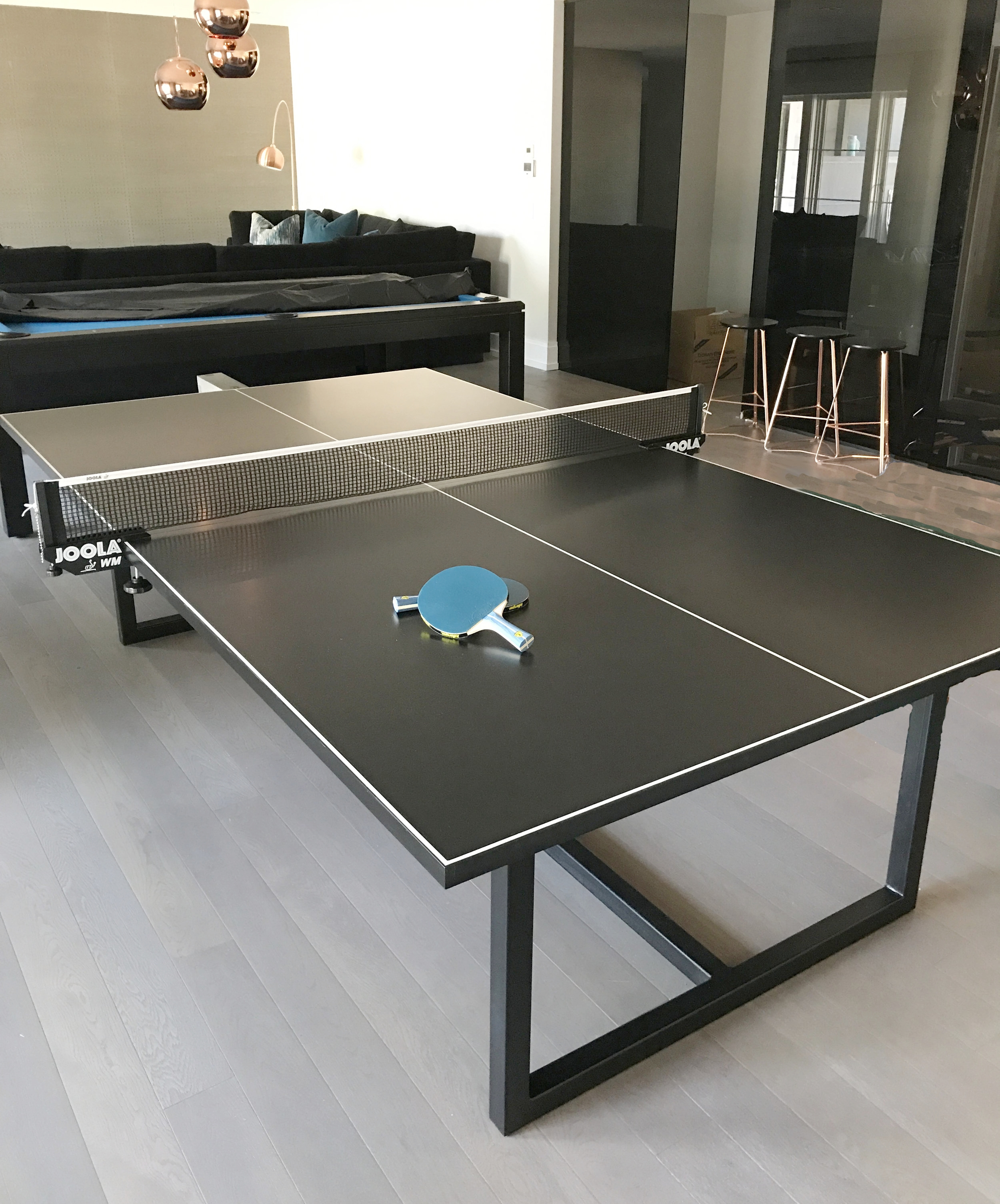 2nd view of charcoal ping pong table