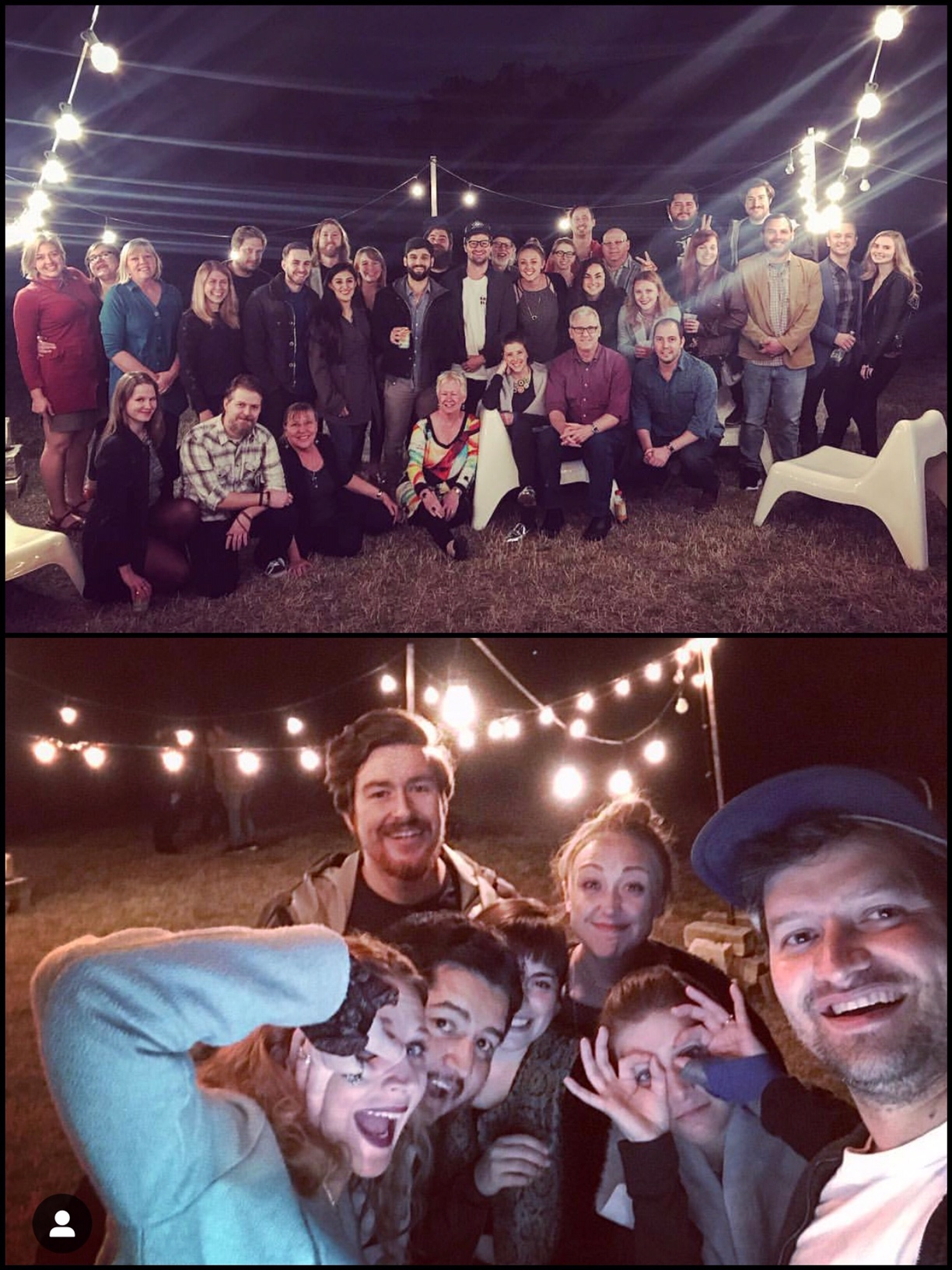 Top: Cast, Crew & Donors / Bottom: some of our core crew