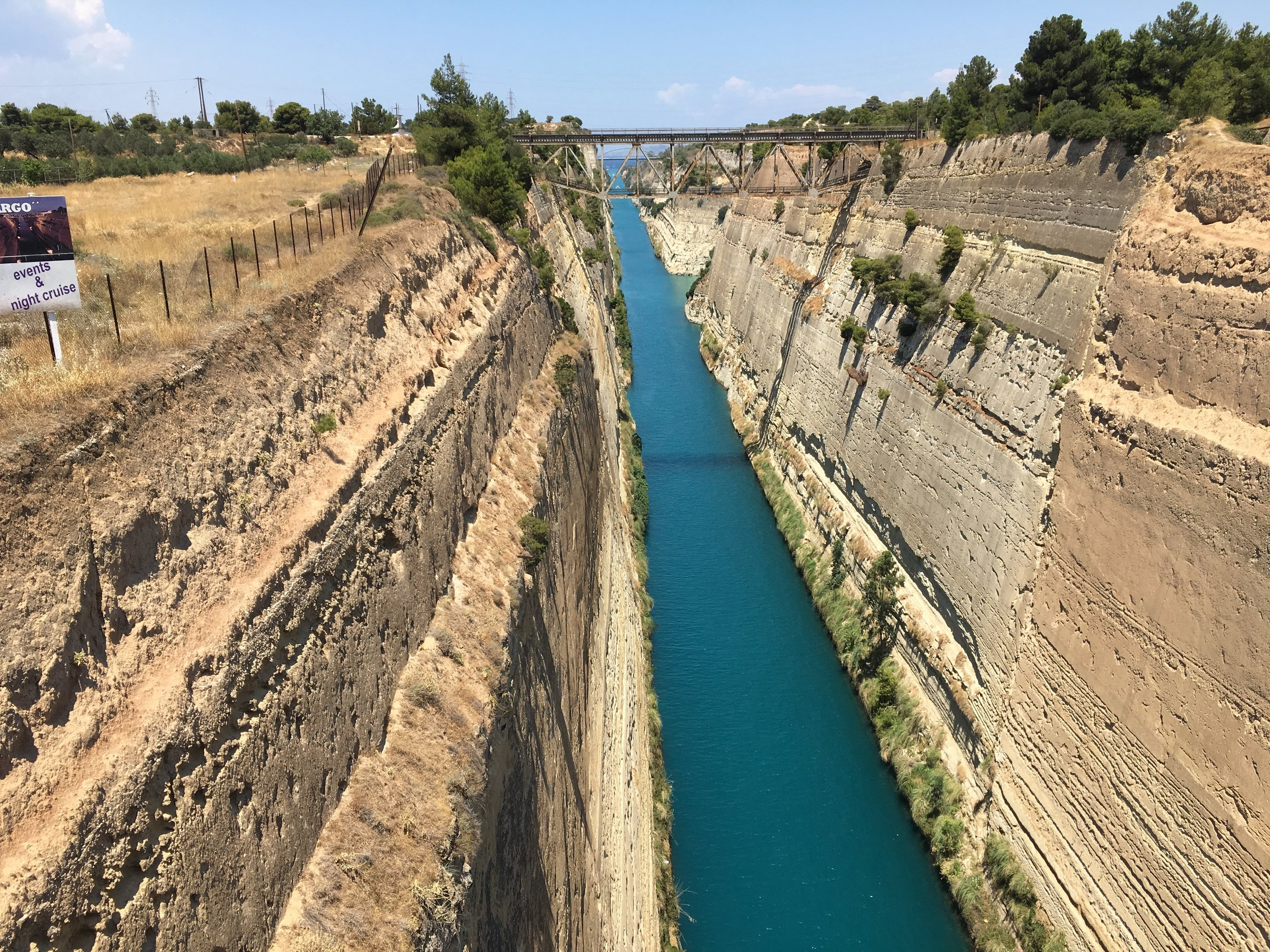 The Divide Between Attica and the Peloponnese - The canal at Corinth, the Las Vegas of the ancient world.