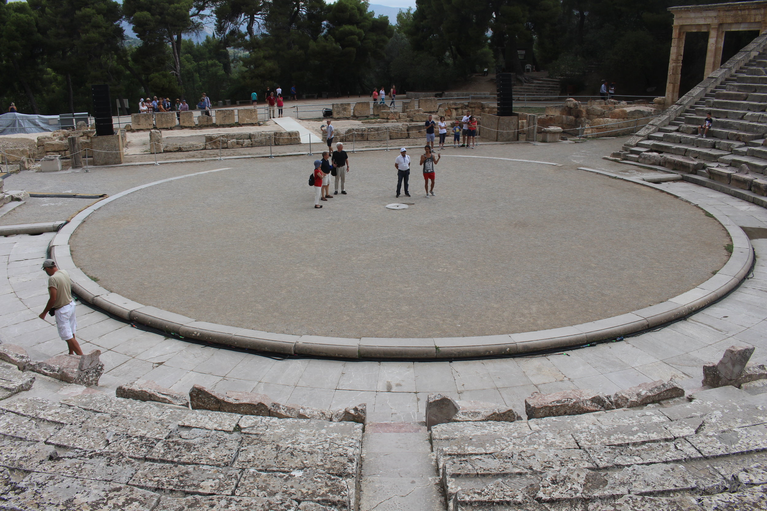 Lysistrata at Epidaurus - A theater dedicated to the god of medicine, Asclepius.