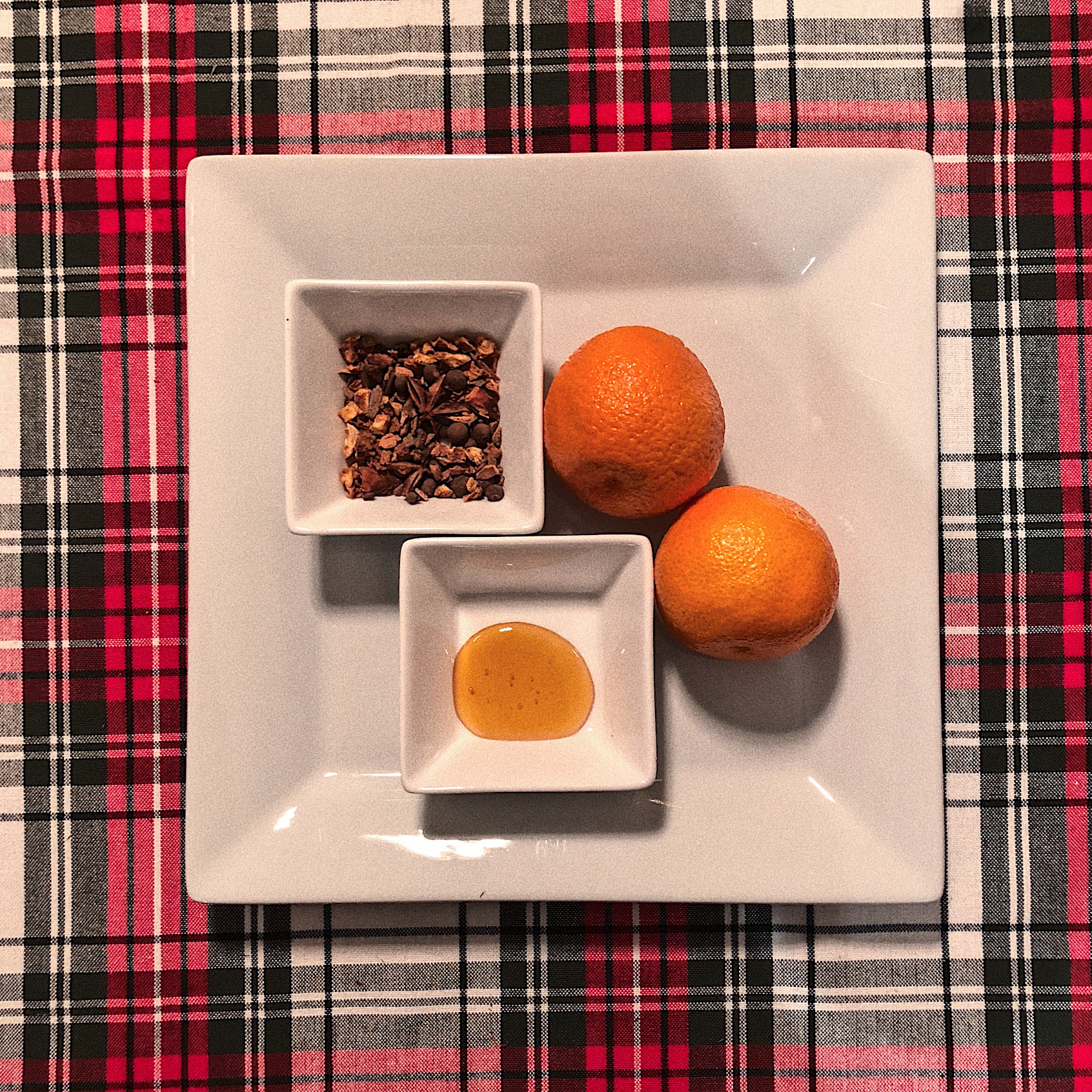 Mulling Spices are a mix of All Spice, Cinnamon, Cloves, Orange Peels, and Nutmeg. I like to add a few extra orange peels to the mix to enhance the flavor. Bonus- simmering this on the stove will make your house smell AMAZING.