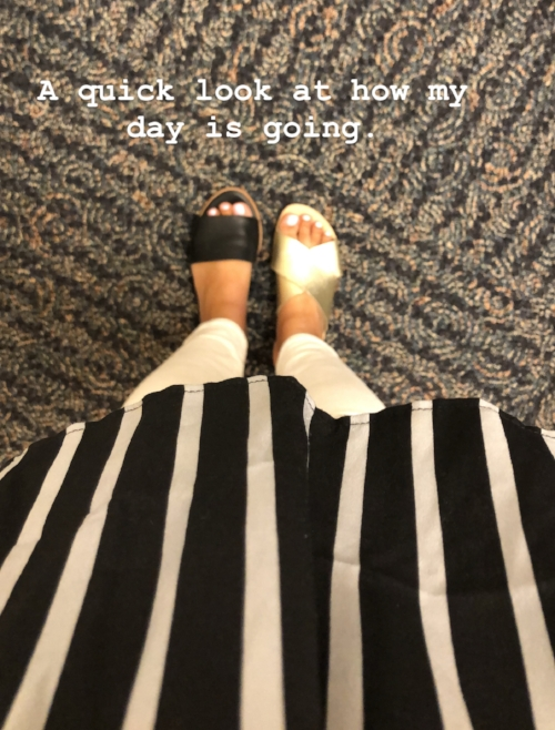 This was me… and this was at 10:30 in the morning… on my second trip to the bathroom… I get to work at 8… soooo yeah. My pants are held together with a hair tie, and my shoes don't even feel the same… and who says pregnancy isn't sexy??