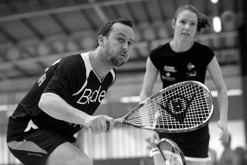 Nick Taylor during a squash duel