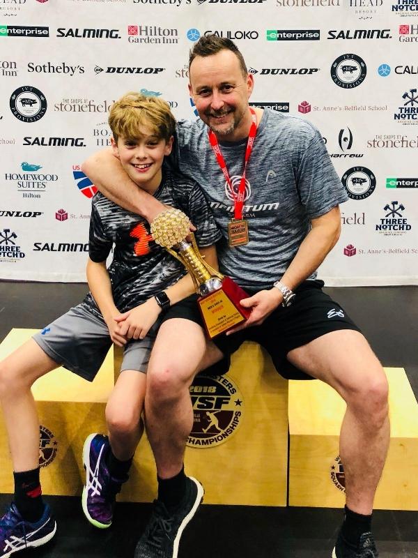 Nick Taylor Squash Charlie Taylor Squash 2018 WSF World Masters Squash Championships.jpg
