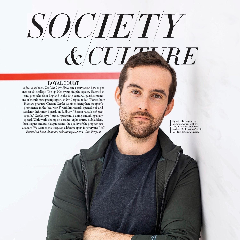 INFINITUM Squash Featured in Boston Common Magazine -