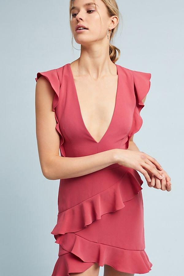 Elegant Ruffled Dress -
