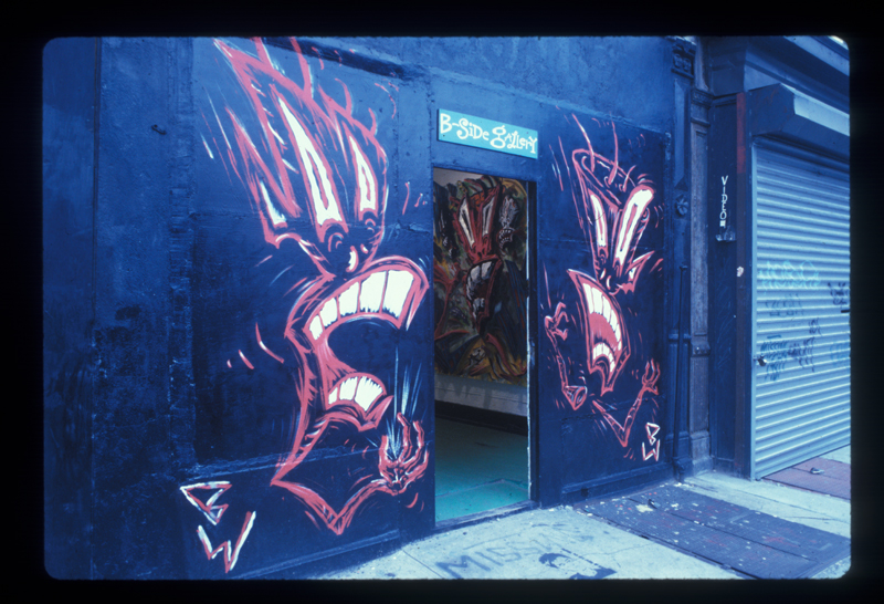 B-Side Gallery storefront, 1985