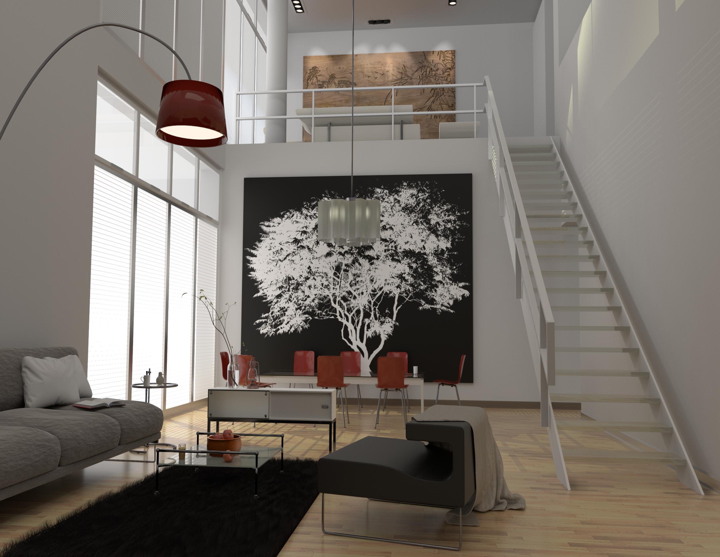 Maisonettewohnung - Wohnzimmer