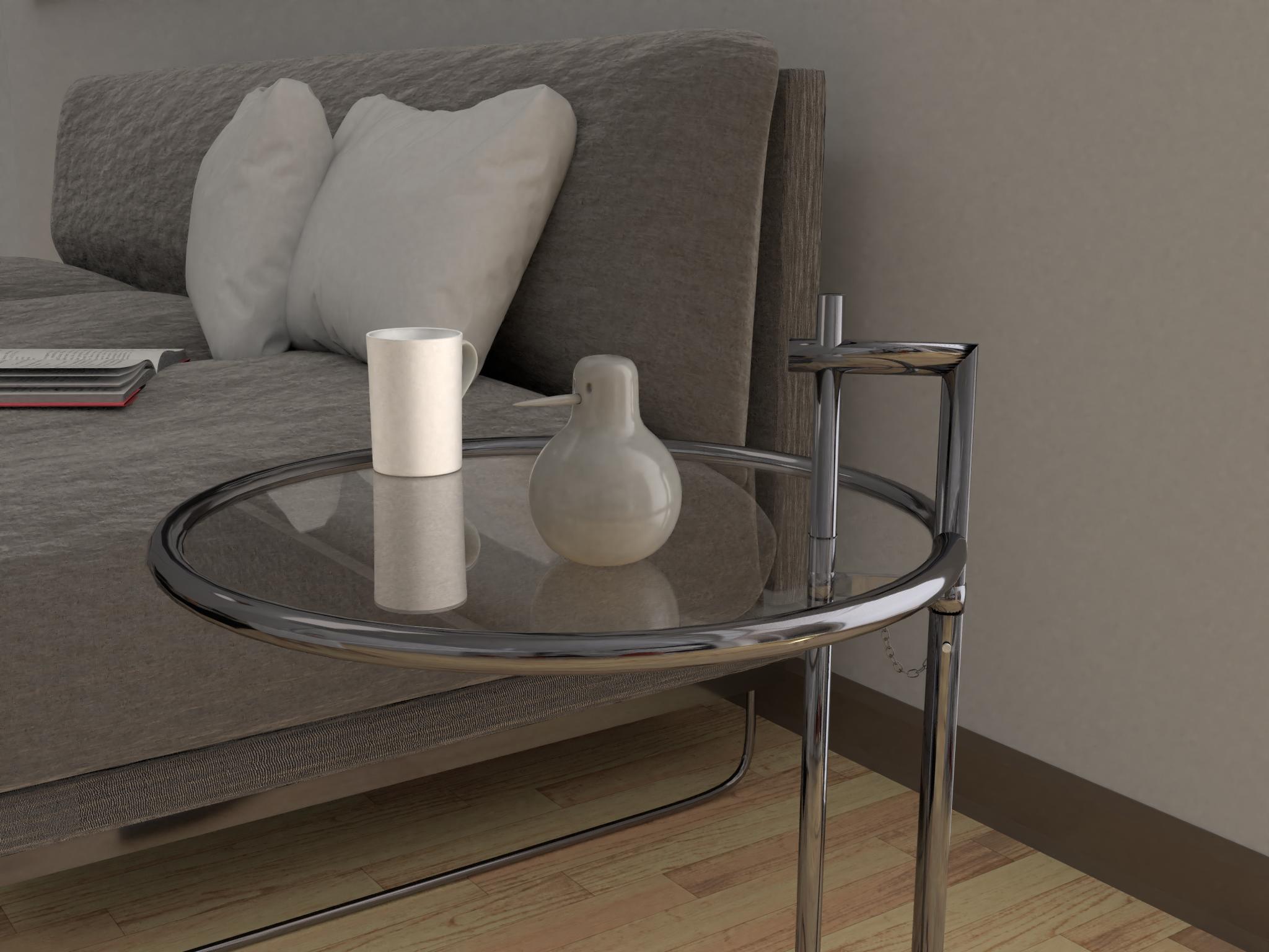 Maisonettewohnung - Detail Couchtisch