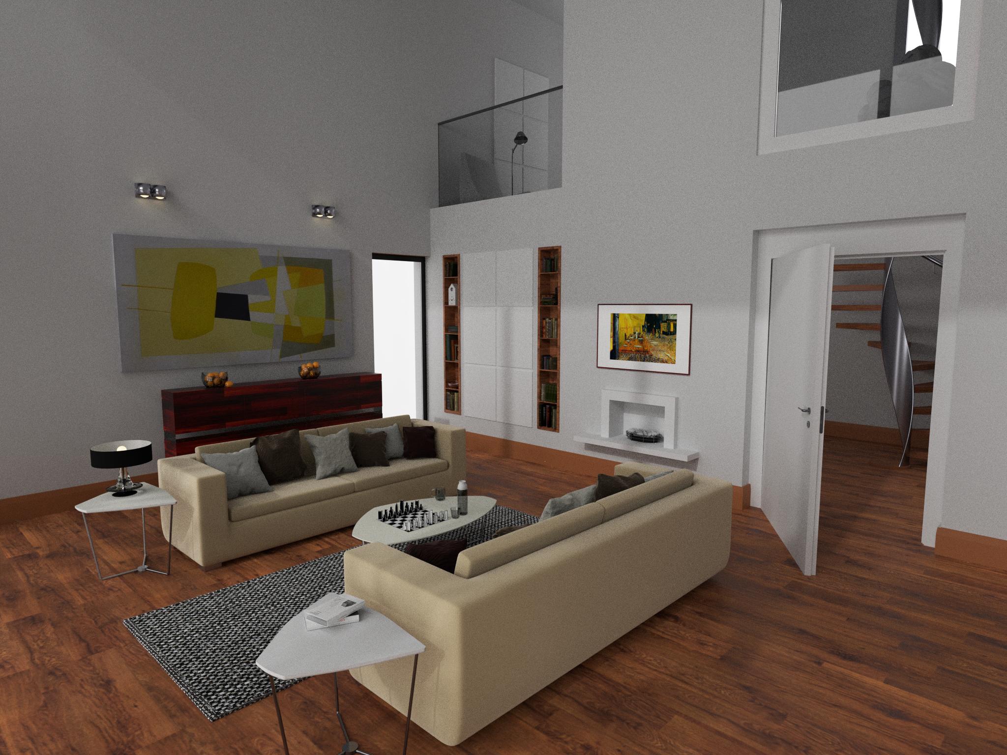 Galeriewohnung - Wohnzimmer