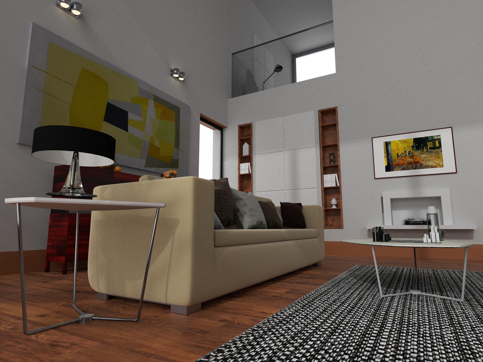 Galeriewohnung - Detail Couch