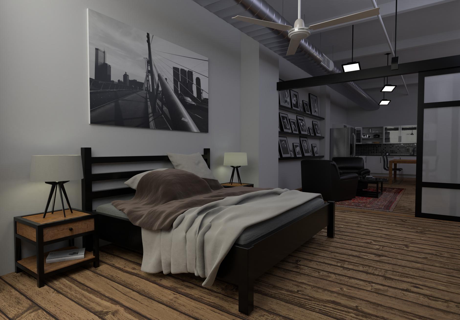 Loftwohnung - Schlafzimmer