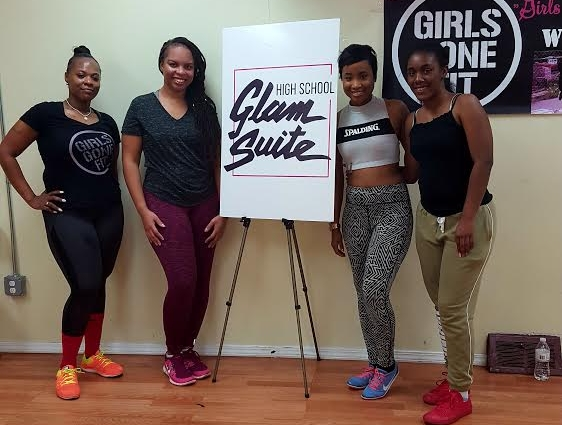 We worked up a sweat during our Fitness Workshop with Girls Gone Fit with Porsche Miles-Grant.