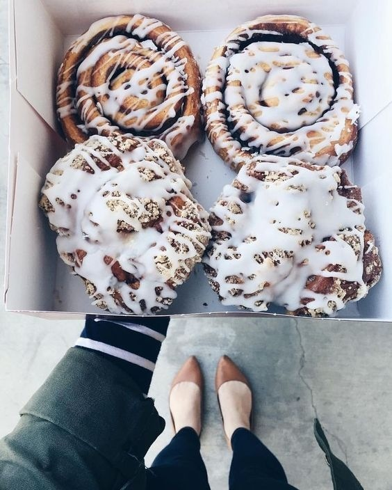 Cooler weather has us ready to rock and [cinnamon]roll. #FallisHere 🍂