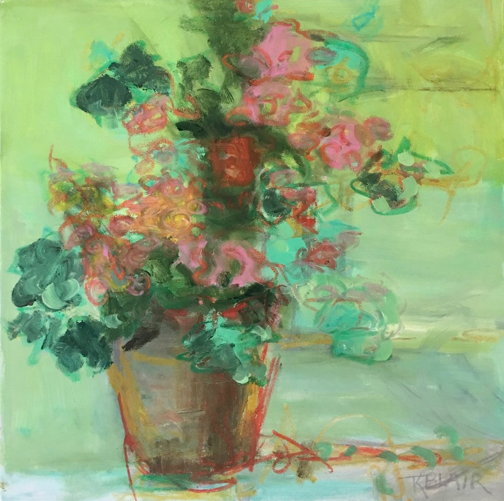Flowers in a Pot, 20x20