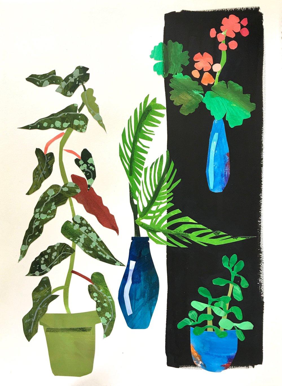 Collage, Kitchen Window II, 30x23