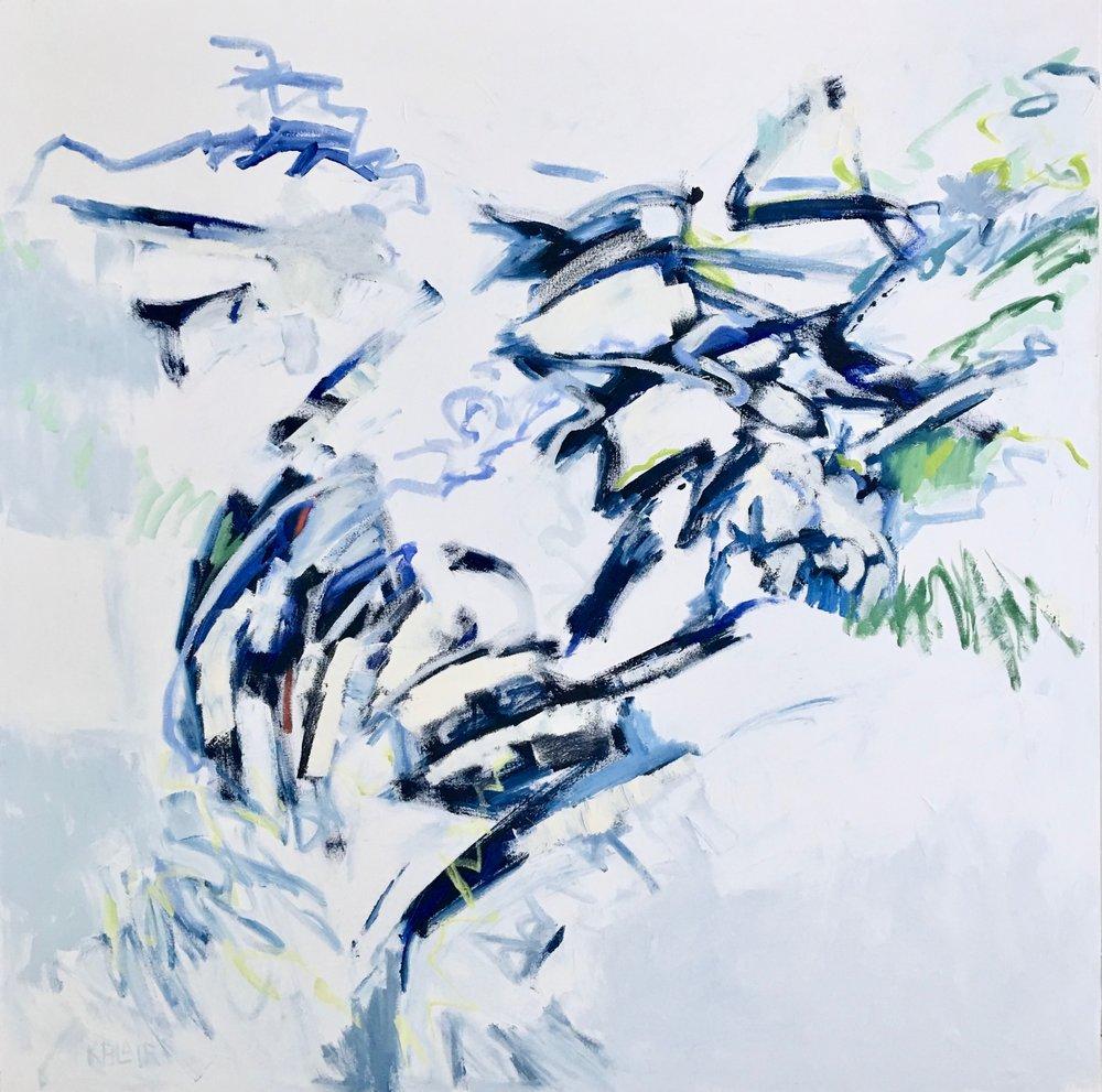 Blueberry Bushes, 43x43