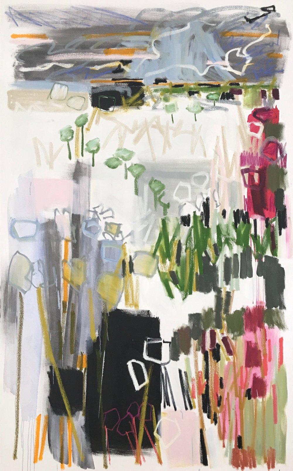 Perennial Garden II, 78x48
