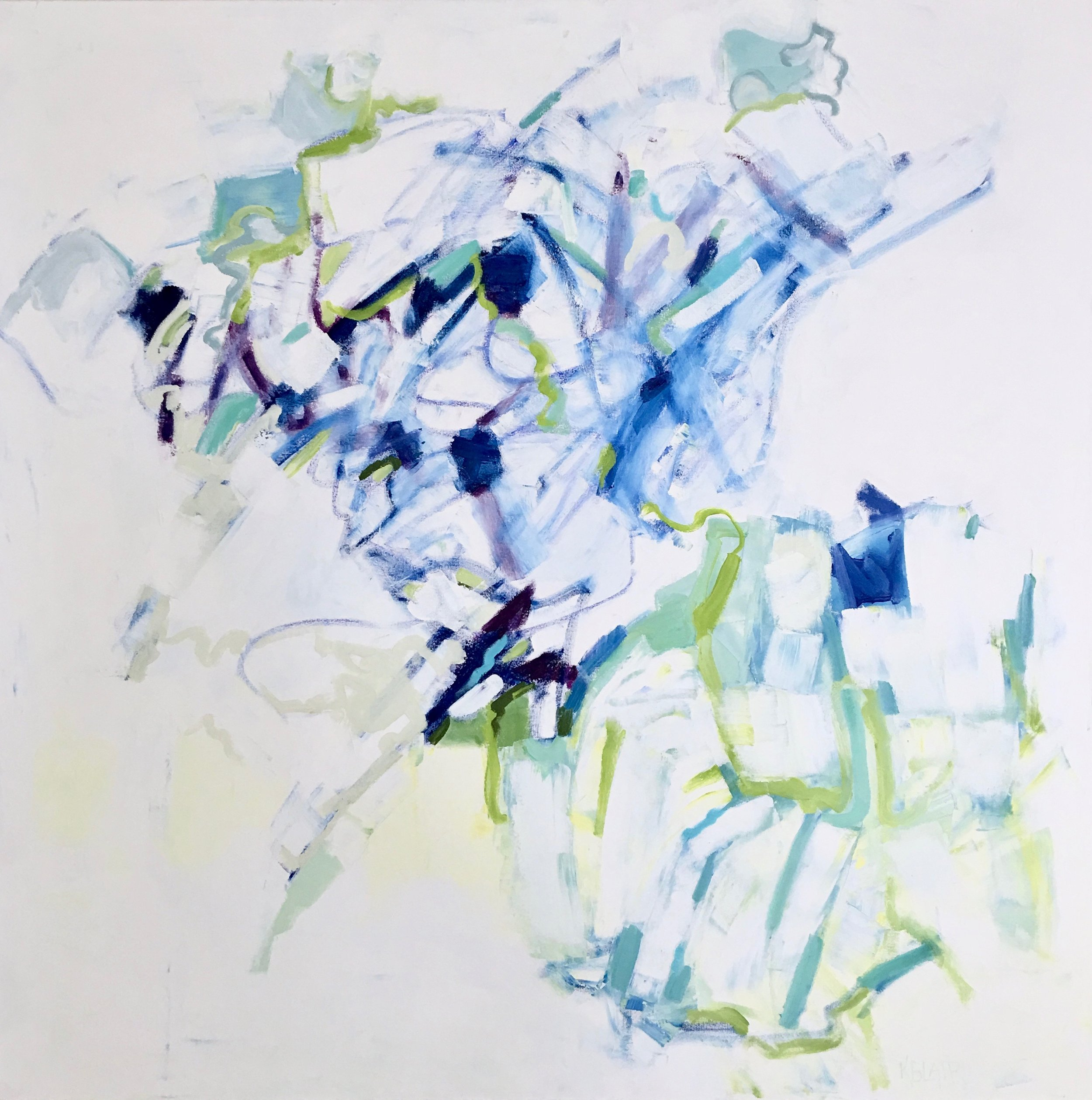 Blue Iris, 43 x 43 inches, Mixed Media on Canvas.jpg