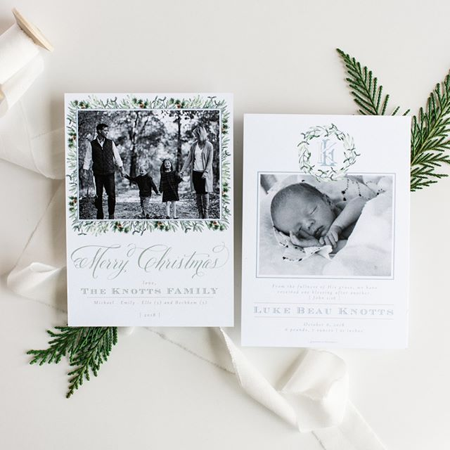 Christmas card + birth announcement.  Yes, please!