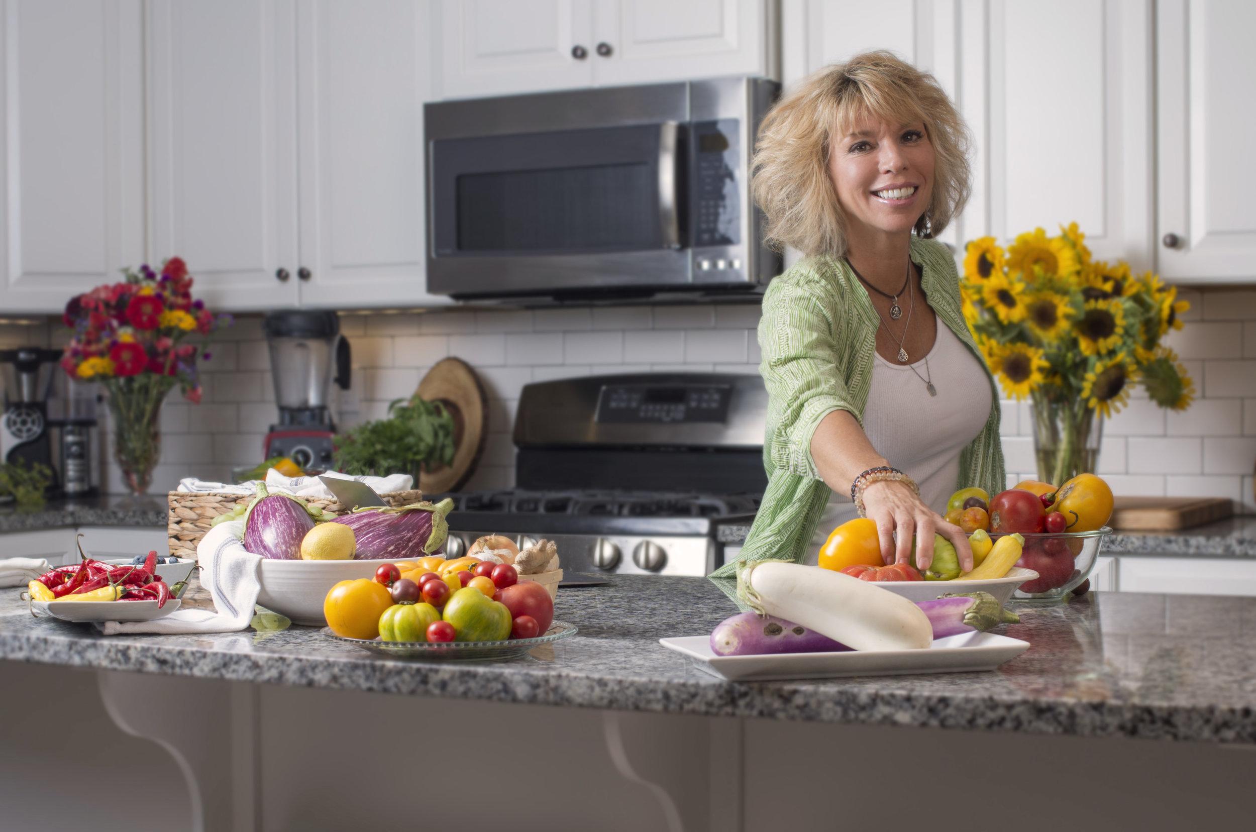 Shaaron Honeycutt Vital Wellness Project Charlottesville Virginia in the kitchen