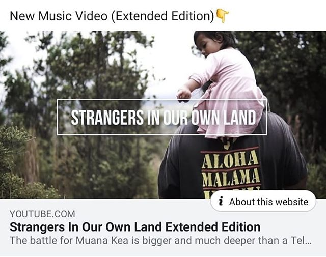 New video out now! This extended version details the struggle in Hawaii right now and how it connects to what took place at Standing Rock in 2016. Indigenous struggle is really the struggle for all of humanities future. FOR ALL OF US TO HEAL AND MOVE FORWARD TOGETHER. . Link in bio Help spread the word https://youtu.be/2zgHW7h867E