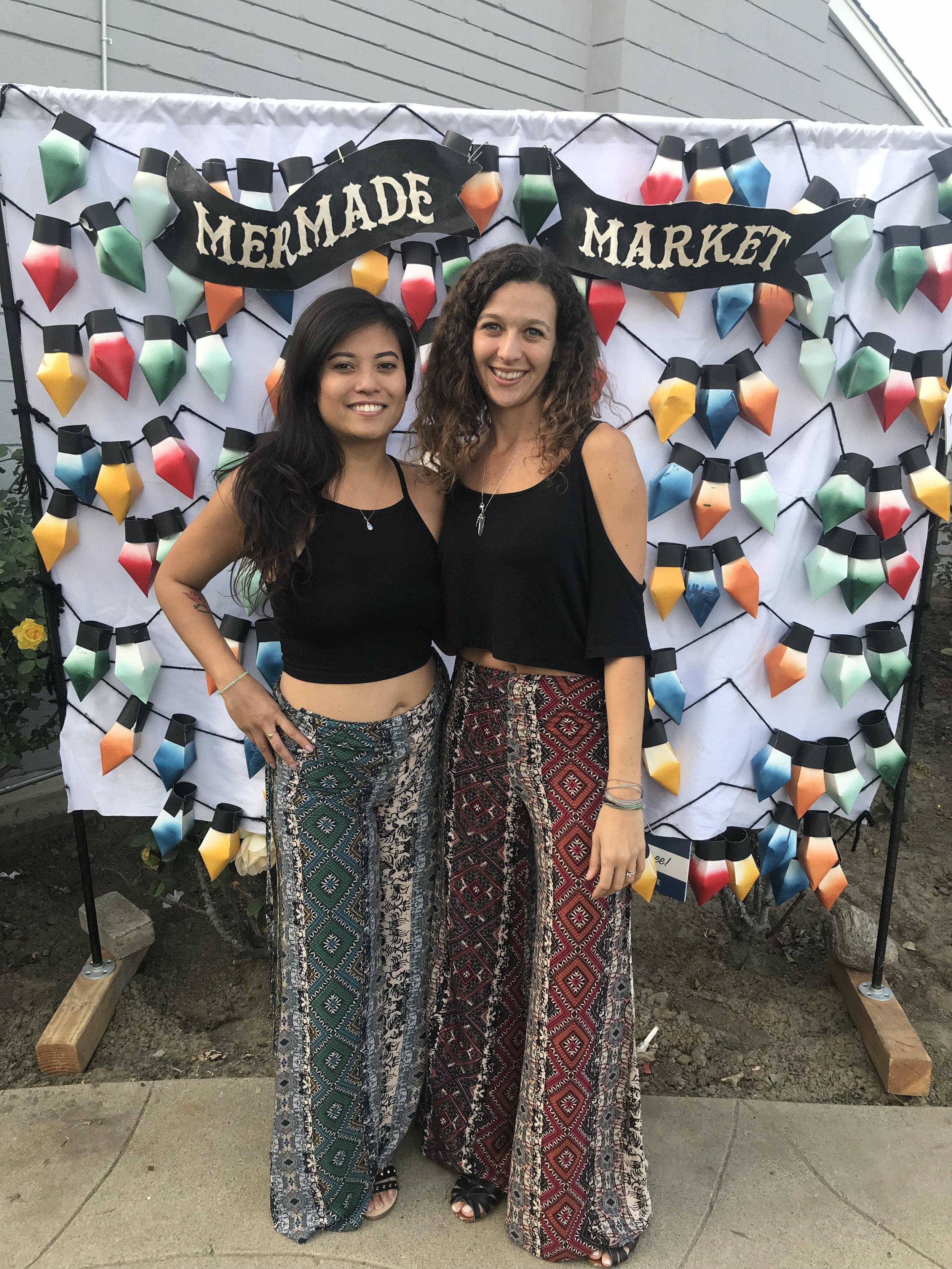 Diana & Camila at the Mermade Market Holiday Show 2017