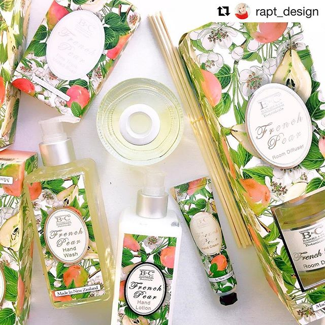 #Repost @rapt_design ・・・ We can't stop smelling the delicious @banksandconz sweet fruit and cinnamon fragrance notes in our French Pear products! https://www.raptonline.co.nz . . #raptonline #rapt #raptonlineshop #raptonlinestore #raptbotany #raptdesign  #banksandconz #frenchpear #sweetalmond #jojobaoil #pearextract #manukahoney #roomfragrance #luxurysoap #bodylotion #bodywash #handandnailcream #giftideanz #giftideas #luxuryskincare #madeinnewzealand #madeinnz #nzmade #hintofcinnamon