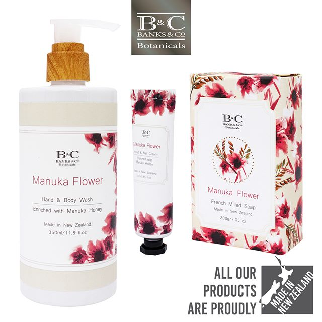 ONLINE SPECIAL — this week only! Coast Manuka Flower Trio Bundle Deal NOW $15.00 — WAS $40.35 Shop link in Bio  Receive a Manuka Flower Hand & Body wash (350ml), soap (200g) and a purse-sized Hand & Nail cream (25ml). Manuka Flower cleansing wash is suitable for all skin types. Beautifully scented with delicate, soft fragrant notes of Muguet, Rose and Musk. Enriched with Manuka Honey to soften and cleanse your skin. *End-of-line. While stocks last. NZ and AU customers only. Valid till midnight 22 September. . #banksandconz #banksandconz #giftideas #madeinnz #nzshopping #onlineshoppingaustralia #onlineshop #luxury #skincare #soap #wash #handcream #shoplocal #newzealand #onlineshoppingnz #gift #manuka #manukahoney #nzgift #specialoffer