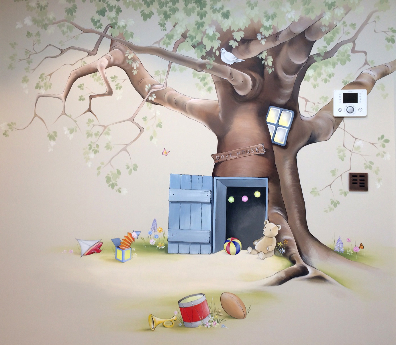 Hundred Acre Wood mural