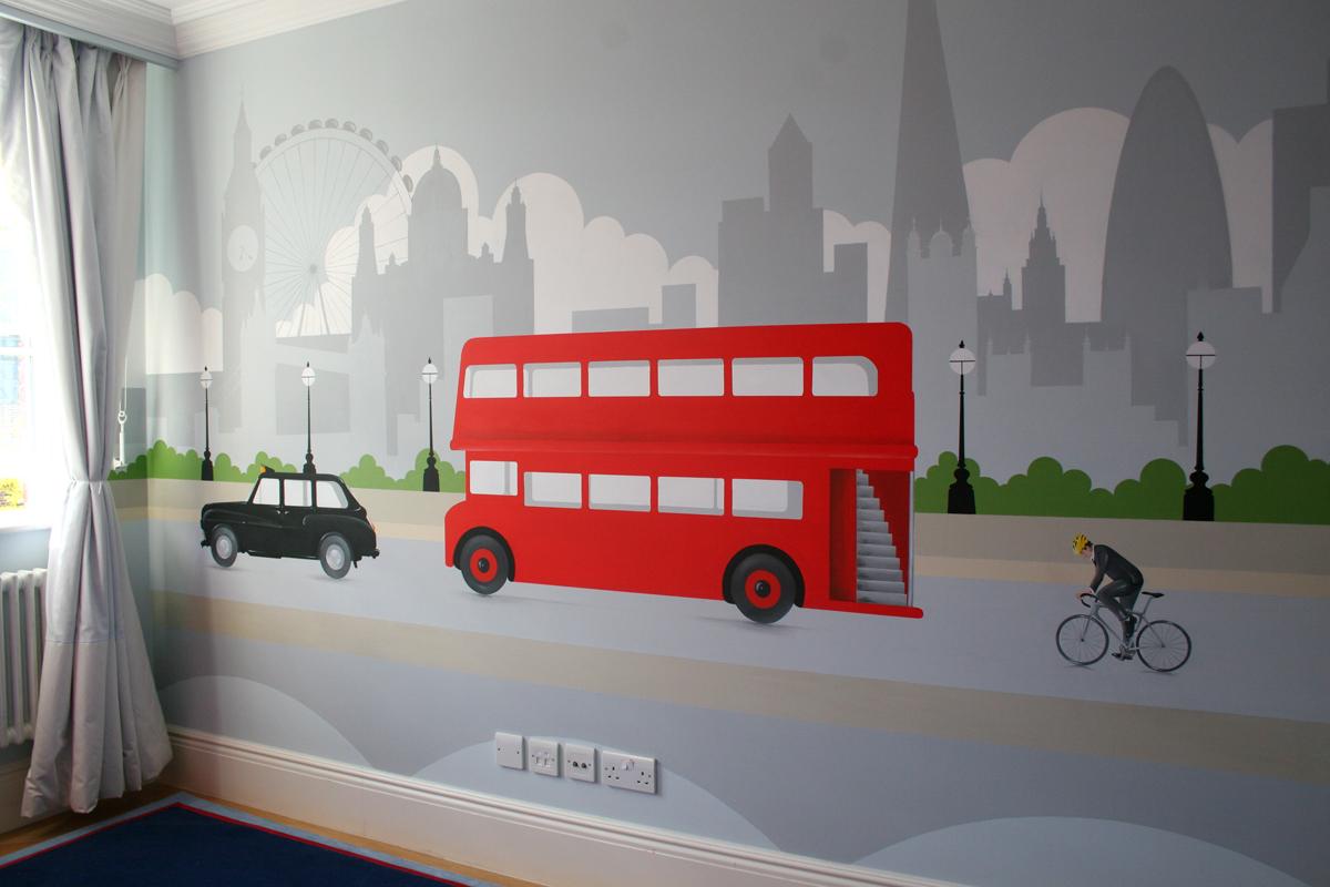 Big Red Bus mural