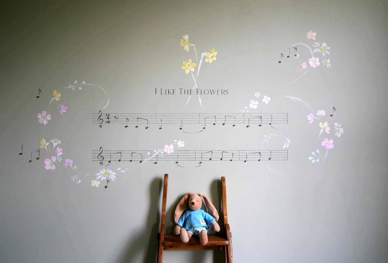 Musical Score mural