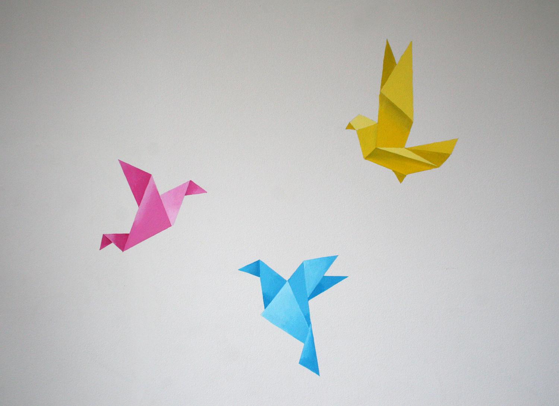 Origami Birds mural