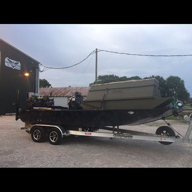 Congragulations to Keith Portie on getting the 2296 twin hoss drive and floating duck blind by PATRIOT BOATS...ready for our next custom build💯