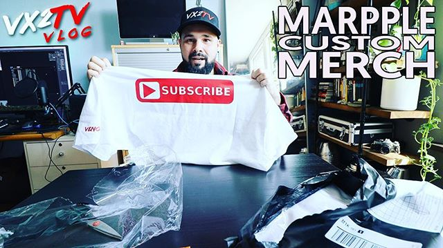Are you interested in #merch, or getting custom #shirts, #hats, #phonecases, etc. made for yourself or your #brand? . Then you're gonna wanna watch today's @vx2tv #VLOG (going live at 3PM EST). . Featuring: @vaskoobscura  Shot with: @canonusa #EOSR & @panasonicusa #G9 Edited by: @Paulvenomous Edited with: @lumatouch #LumaFusion on #iPadPro #marpple #customshirt #customhat #customphonecase #bandmerch #vx2tv #canoneosr #panasonicg9 #canon #panasonic