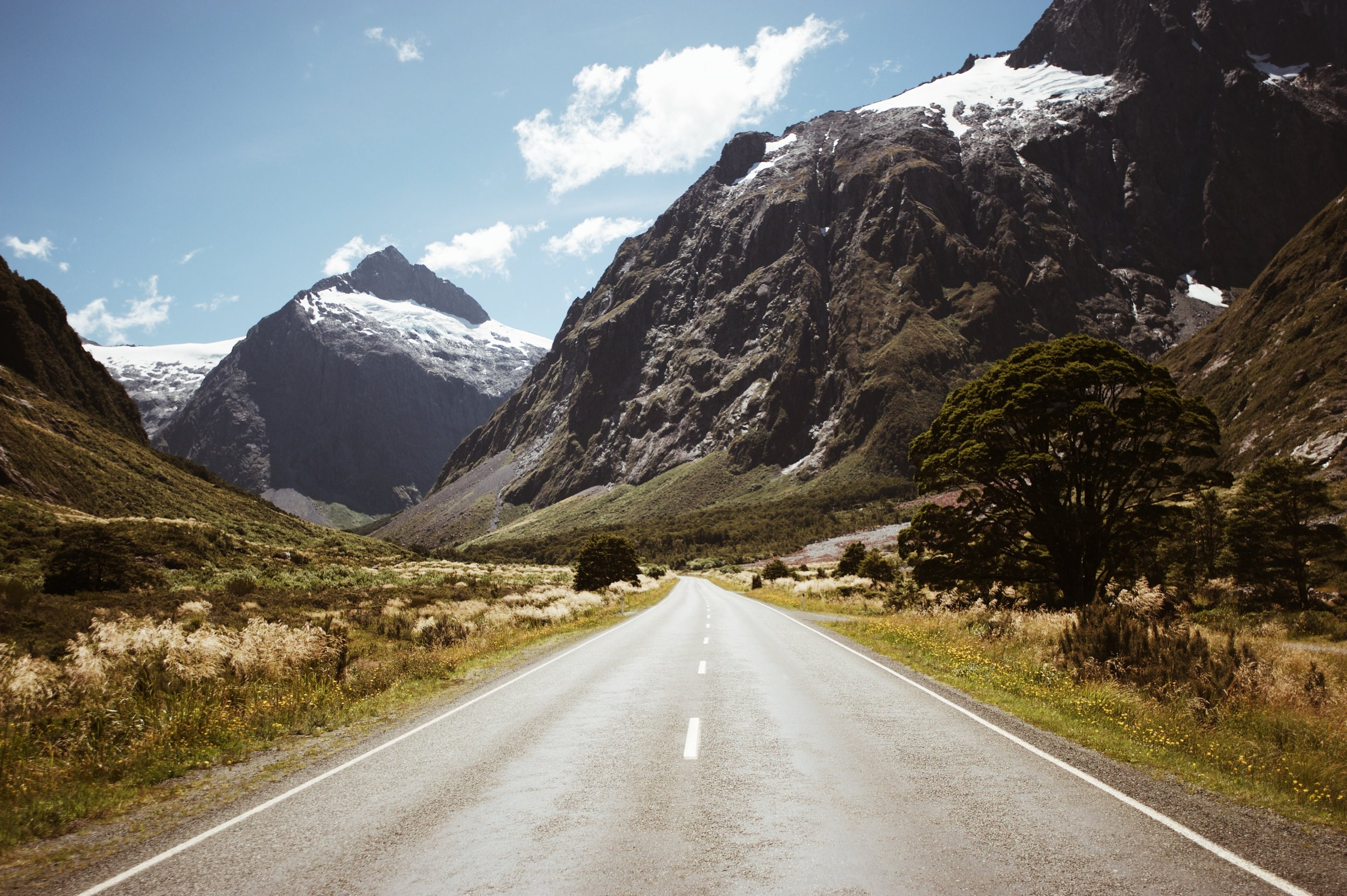 Mountain Road in New Zealand