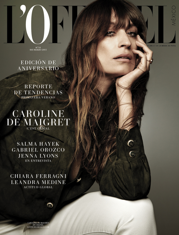 L'OFFICIEL MEXICO - L'OFFICIEL MEXICO ANNIVERSARY Caroline de Maigret - Paris, France lofficielmexico.comm-bandmusic.com Featuring - Caroline de MaigretPhotographer - Damon BakerDirector of Film – Colby Koch & Nathaniel AronPhoto Production - Jed Root GroupExecutive Film Producer – Colby KochExecutive Film Producer – Krysta StarkExecutive Film Producer – Jeronimo MedinaFilm Line Producer - Natasha FisherDirector of Photography – Nathaniel Aron1st Assistant Camera – Vincent ToubelFilm Editor – Chris Koch Photographer - Damon BakerStylist - Marine BraunschvigMakeup - Maria OlssonHair - Alexandry CostaPhoto Assistant - Fred ValezyStylist Assistant - Melina Brossard Special thank you-Pamela OcampoMariangeles ReygadasAlexander Bscheidl @ Vantage ParisStudio Rouchon Music -