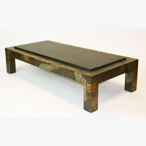 Large Paul Evans Patchwork And Slate Coffee Table Porter Plunk
