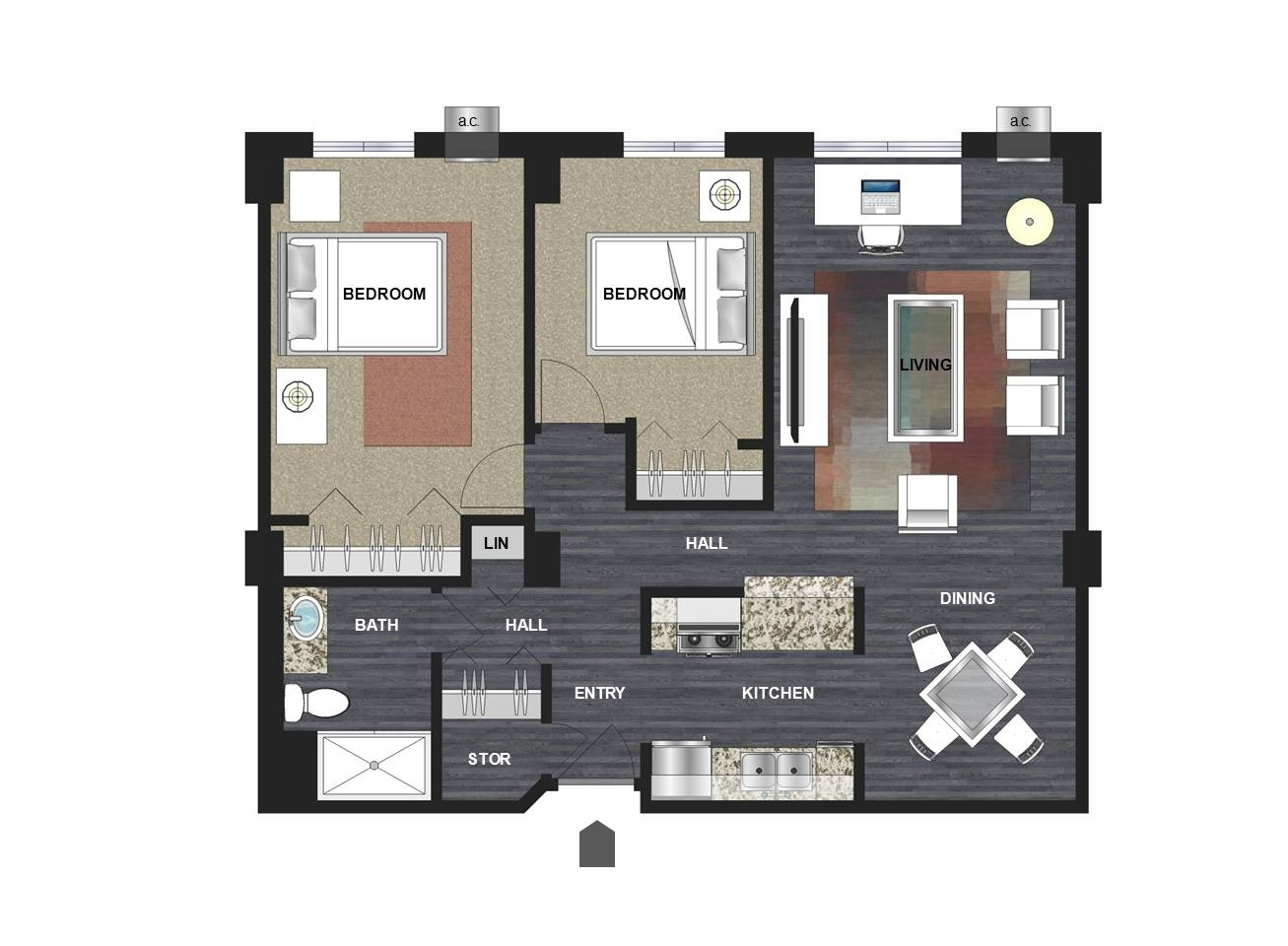 Typical Two Bedroom