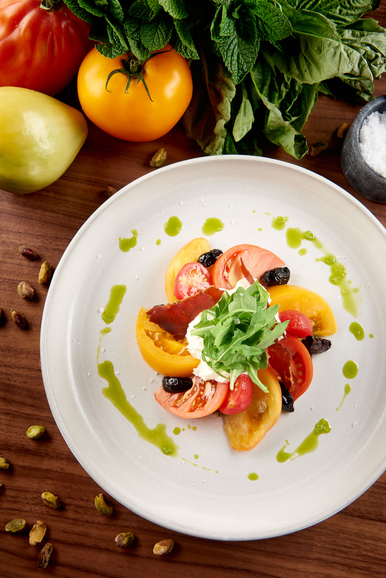 Copy of Heirloom Tomatoes & Burrata