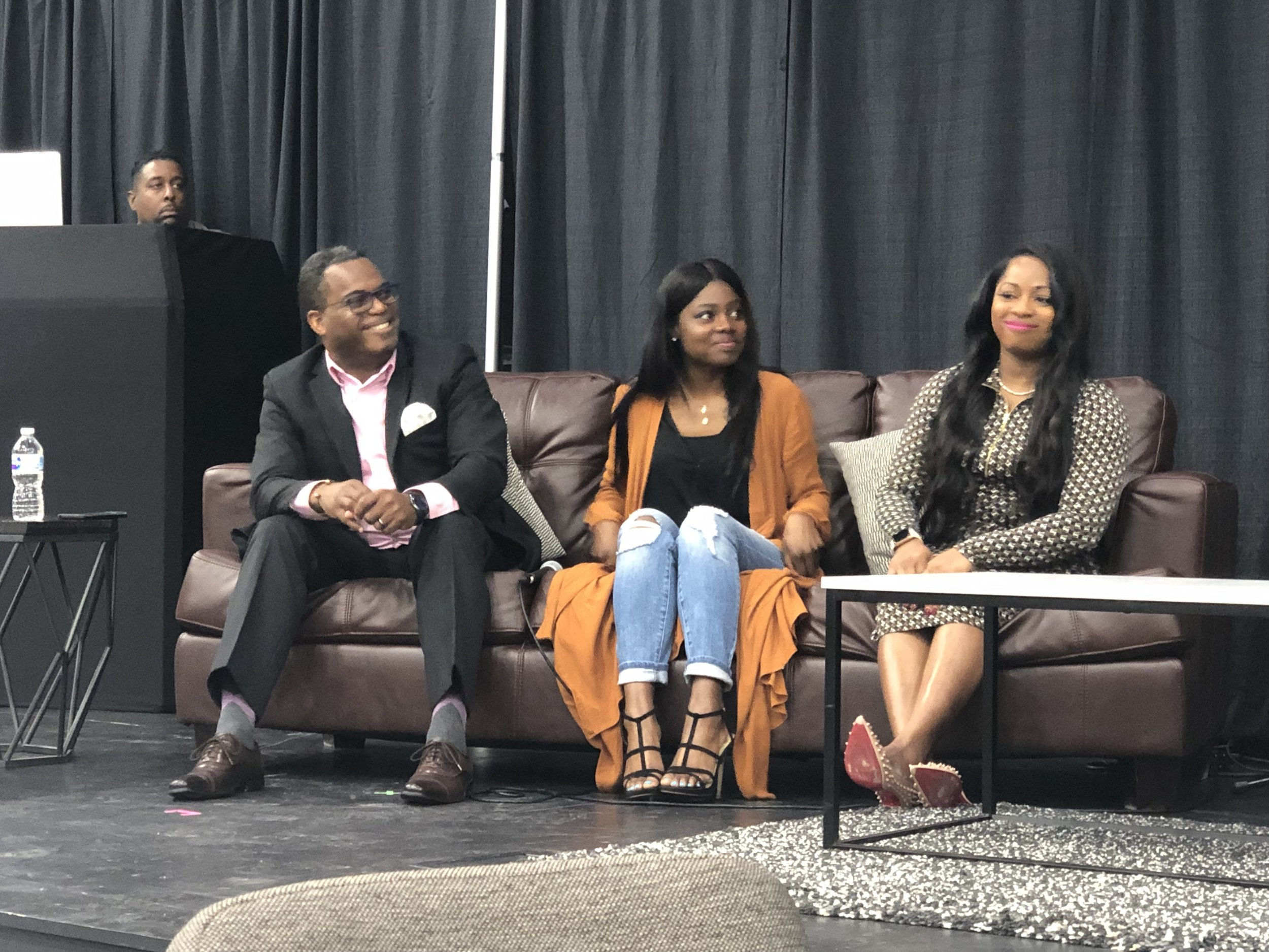 """- Meet the """"Expert Panelist"""" , (l to r) Galherbe Monel, Jasmine Smith, and Tanita Brinkley. They all gave advice on the financial side of being an entrepreneur. Mr. Monel specializes in non-profits and can be found on all platforms at Non-Profit Start Up Center. Jasmine gave insight on marketing and she can help you figure out the best strategy to execute your ideas. She can be found on IG @iamjayesmith. Tanita Brinkley is the money lady! She discussed the in-and-outs of taxes and business accounts. Find her on IG @tanitabrinkley!"""