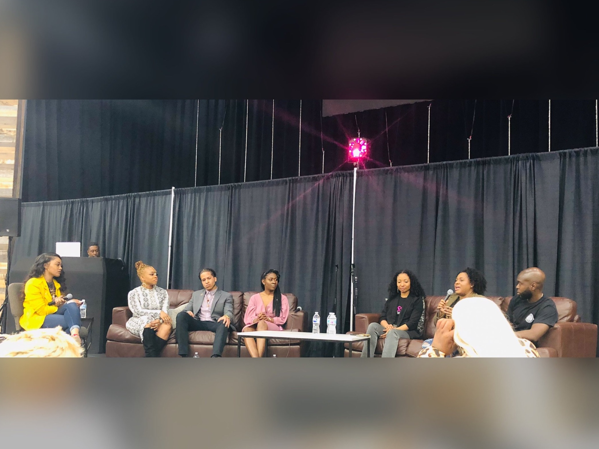 - Meet our first group of Panelists! (L to R) Montie Green, owner of Velvet Wax and Beauty, talked about her journey as a business owner. Check out her services on IG @velvetwaxandbeauty! Meet Cameron, the CEO of Violence Intervention & Prevention, who told his story of how a life changing shooting changed his life for the better. Check him out on IG @mindofabillion. Nia Wellman, who is the Founder of Campus Curlz and a YouTube Influencer, talked about her journey and branding. Find her on IG @niabiafoefia. Meet Jasmine of Kiss My Demin. Jasmine talked about the ups and downs of being a business owner. Her IG is @kissmydenim. Meet Jonna Scott-Blakes, Beauty Blogger, who turned her love for natural hair into a business. Check her out on IG @naturallyglam! Meet Rashod Harris, founder of The Rebel Societyxxv, who is a digital media strategist. Check out his work on IG @ShodHarris.